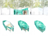 Conception de kiosques par Place Saint Pierre. - 2015